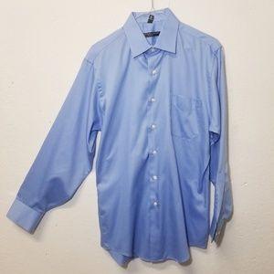 GEOFFREY BEENE Blue Dress Shirt Medium